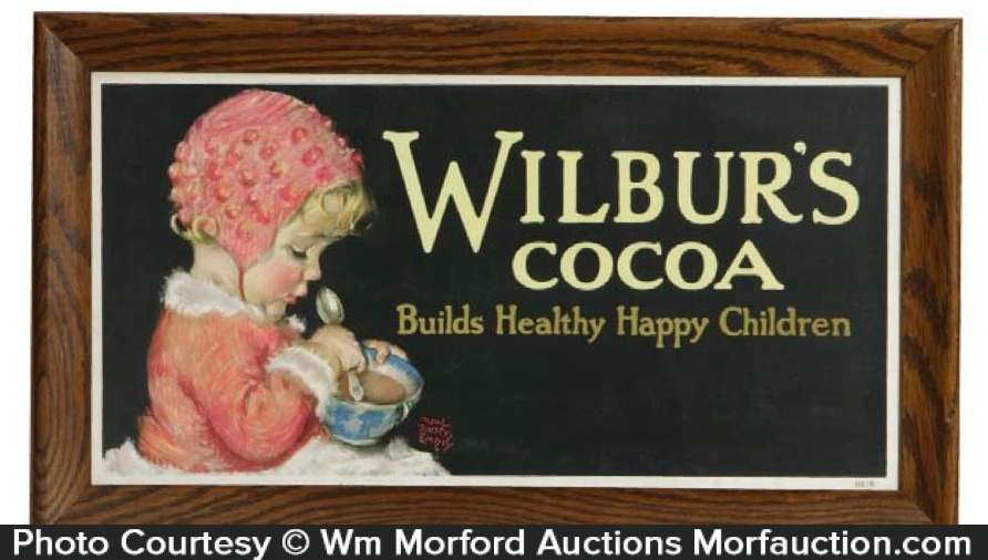Wilbur's Cocoa Sign