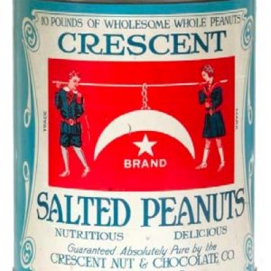Crescent Peanuts Tin