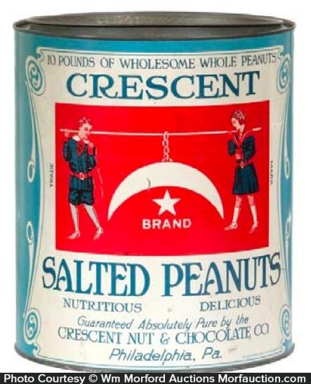 Crescent Peanuts Tin