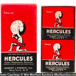 Hercules Condom Tins