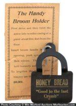 Honey Bread Broom Holder