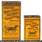 Newton's Heave, Cough Distemper Indigestion Compound Tins