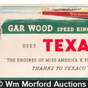 Texaco Gar Wood Sign