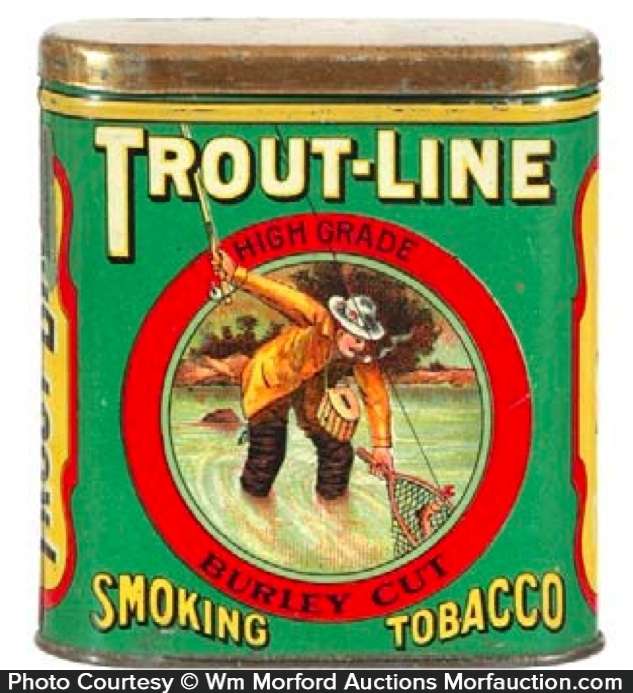 Trout-Line Tobacco Tin