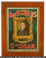 Geo. W. Childs Cigar Sign