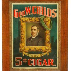 Geo. W. Childs Cigar Sign