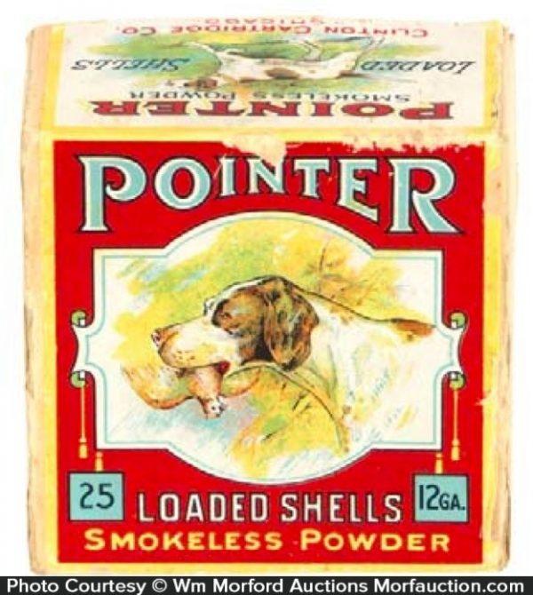 Antique Advertising Pointer Shotgun Shells Box Antique