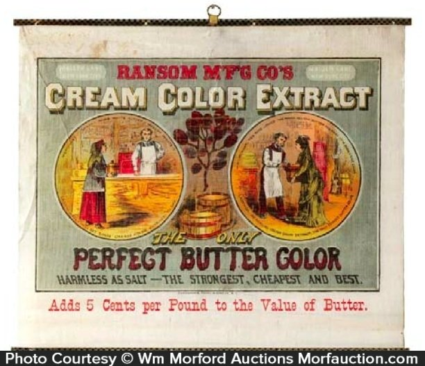 Cream Color Extract Butter Sign