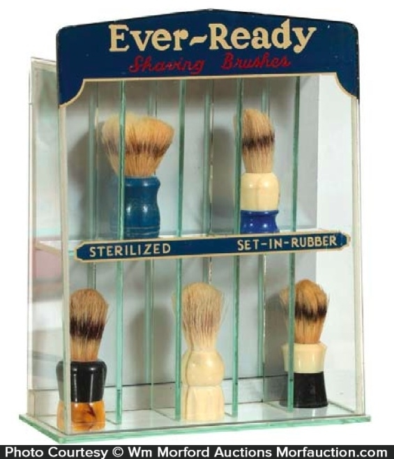 Ever-Ready Shaving Brush Display