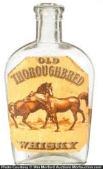 Old Thoroughbred Whiskey Flask