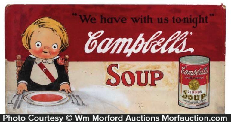 Campbell's Soup Original Artwork Sign