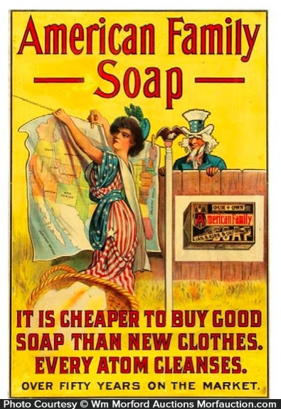 American Family Soap Sign