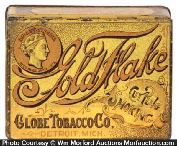 Gold Flake Tobacco Tin
