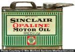 Sinclair Opaline Oil Can
