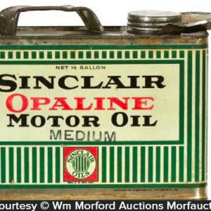 Sinclair Opaline Oil Can