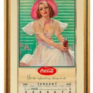 1938 Coke Calendar