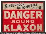 Klaxon Automobile Horns Sign