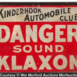 Klaxon Automobile Horns Sign