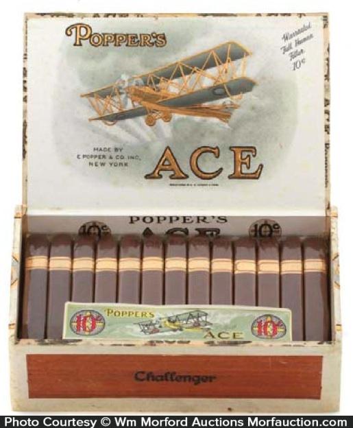 Popper's Ace Cigar Display Box