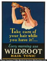 Wildroot Hair Tonic Sign