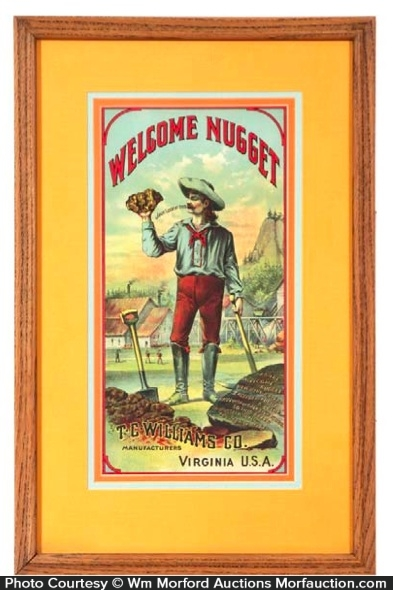 Welcome Nugget Tobacco Label