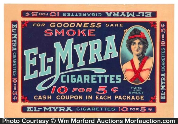 El-Myra Cigarettes Label