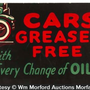 Cars Greased Sign