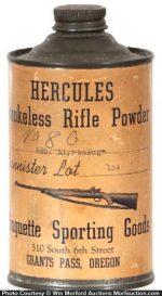 Hercules Rifle Powder Tin
