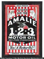 Amalie Motor Oil Sign