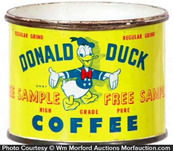 Donald Duck Coffee Can Sample Bank
