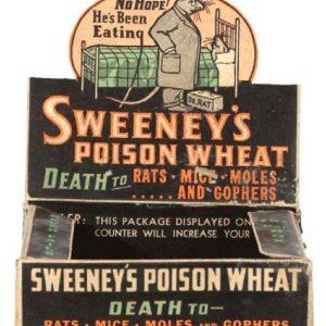 Sweeney's Poison Wheat Rat Killer Display Box