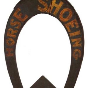 Folk Art Horse Shoeing Hop Sign