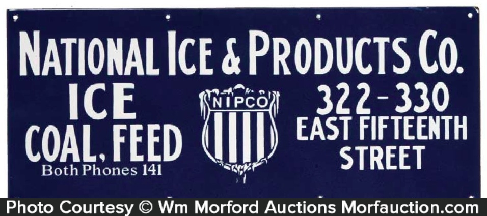 National Ice Products Sign