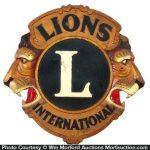 Lions International Club Sign