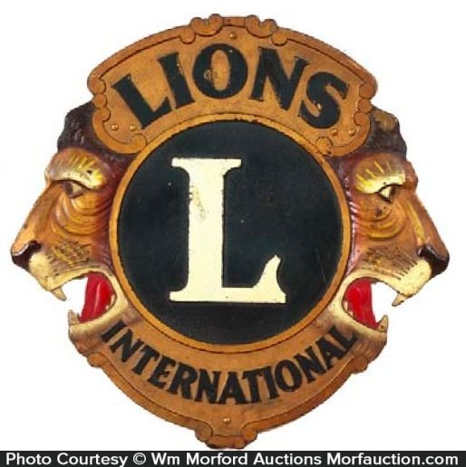 Lions International Club Sign
