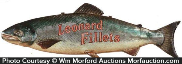Leonard Fillets Fish Sign