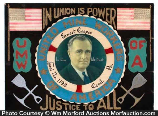 Mine Workers Union Sign
