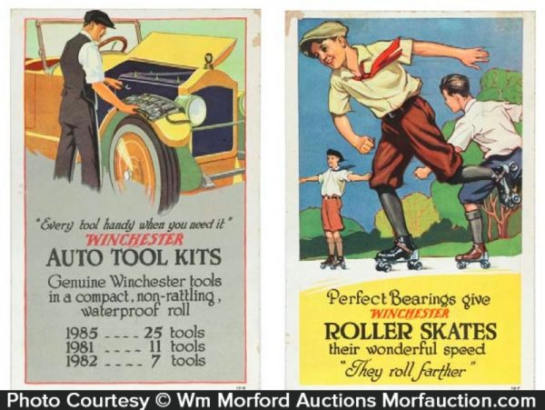 Winchester Auto and Skates Sign