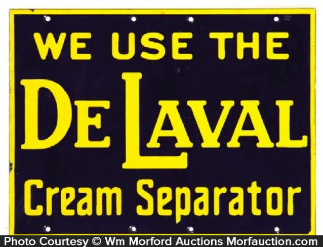 De Laval Cream Separator Porcelain Sign