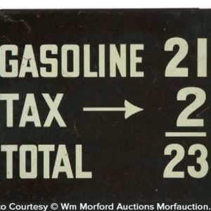 Vintage Gas Pricing Sign