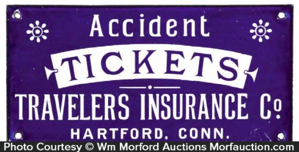 Travelers Accident Tickets Sign