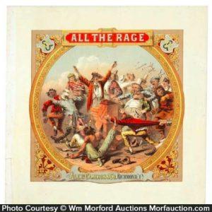 All The Rage Tobacco Label