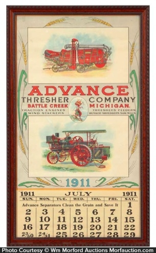 Advance Thresher Calendar