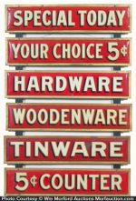 5¢ Hardware Store Signs