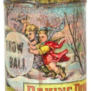 Snow Ball Baking Powder Tin