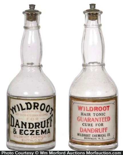 Wildroot Dandruff Bottles