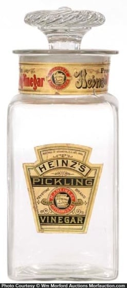 Heinz Pickling Vinegar Jar