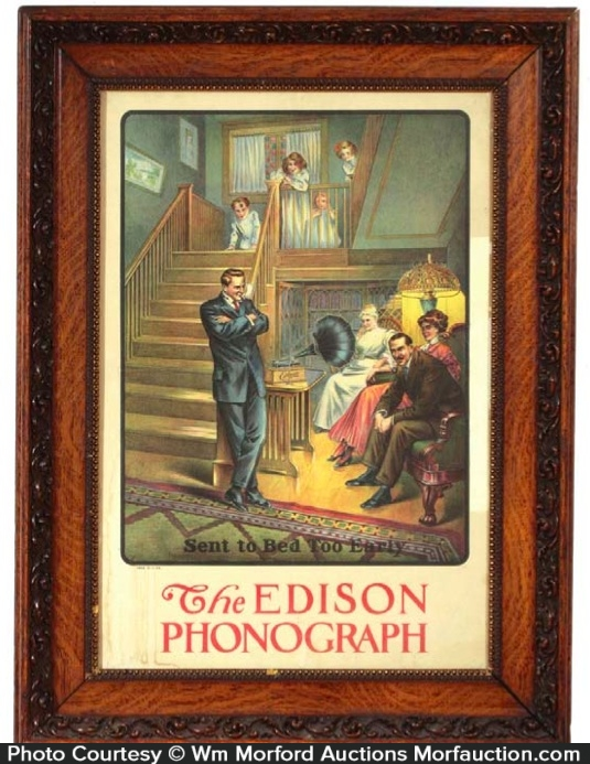 Edison Phonograph Sign