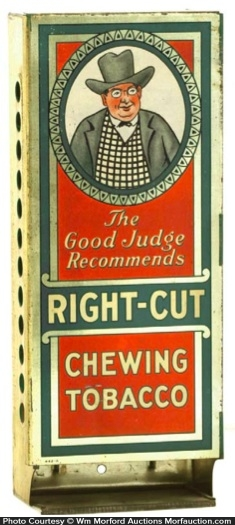 Right-Cut Chewing Tobacco Display