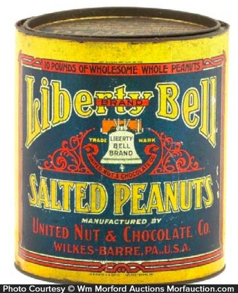 Liberty Bell Peanut Tin